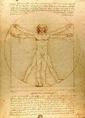Vitruvian-Man-by-Leonardo-poetry-by-jda